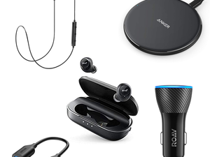 Keep the music playing with discounted Anker charging accessories and Bluetooth headphones