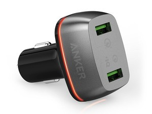 The $15 Anker PowerDrive+ 2 car charger has two Quick Charge ports