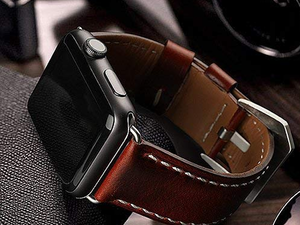 Switch your Apple Watch's style with a genuine leather band on sale under $6
