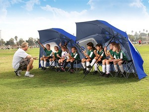 Don't worry about the weather with this $36 Sport-Brella 9-foot canopy