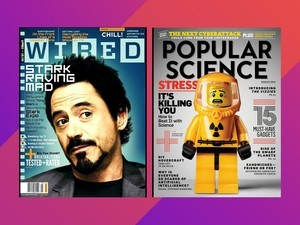 Dual subscribe to Wired and Popular Science magazines for $8 yearly