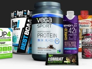 Save $20 on a sports nutrition essentials purchase of $60 or more at Amazon