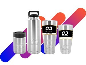 Stainless steel tumblers by Alpha Armur are discounted by up to 50%