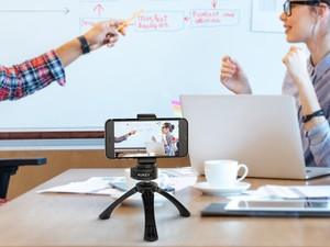 Grab Aukey's cell phone tripod for $8