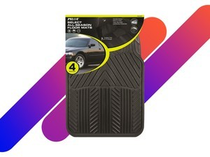 Protect your car with the 4-piece All Season Rubber Floor Mat Set for $10