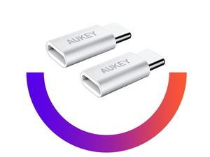 Grab Aukey's 2-pack of USB-C adapters for under $3