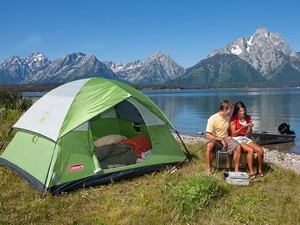 Sleep up to 4 people with ease in this $39 Coleman Sundome tent