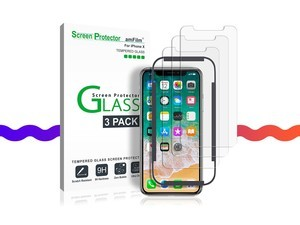 Grab a 3-pack of iPhone X tempered glass screen protectors for less than $3