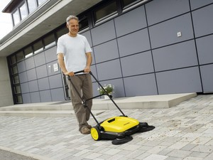 Clean your driveway 5 times faster with this $101 push sweeper