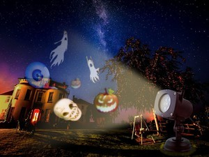 Spookify your house this Halloween with the Oxyled projection light.