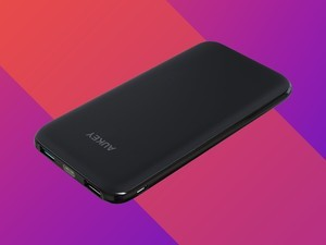 Slip this thin 10000mAh power bank into your pocket for just $15