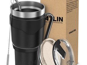 This Atlin 30-ounce vacuum insulated tumbler is $15 today only