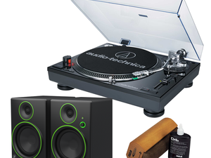 Become a vinyl addict with this stellar Audio-Technica LP120 turntable bundle for $300