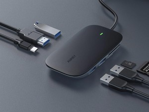 Aukey's multi-functional USB-C hub with Power Delivery is on sale for 50% off