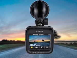 Record every drive with this $48 Aukey 1080p dash cam