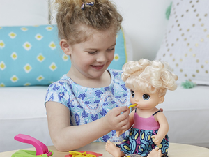 Let your kids try out parenting with the $14 Baby Alive Snackin' Noodles doll