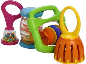 Babies can start their own band with this 4-piece toy instrument set for $15
