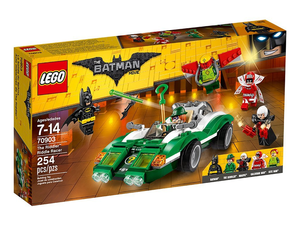Race around as the Riddler with this $19 Lego Batman Movie Riddle Racer set
