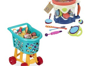A variety of toys from Battat, Play Circle, and Bristle Blocks are up to 45% off today
