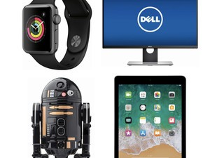 Save on the Apple Watch, app-controlled droids, Dell computer monitors and more in Best Buy's 24-hour tech sale