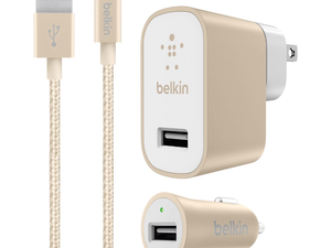 Power up at home and on-the-go with Belkin's $7 Home and Car USB Chargers set