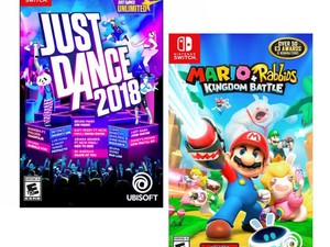 Pick up Mario + Rabbids Kingdom or Just Dance 2018 for your Switch for $30
