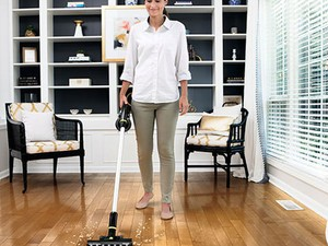 The only thing smaller than this Bissell Multi-Reach Stick Vacuum's footprint is its price