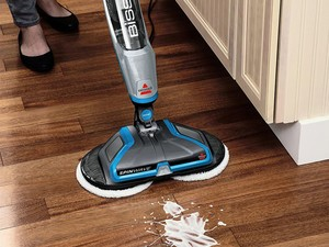 Clean up even tough messes using the $96 Bissell Spinwave Plus Hard Floor Cleaner and Mop