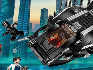 Build Black Panther's Royal Talon Fighter with this $24 LEGO Superheroes set