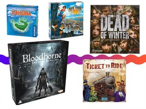 Board games like Bloodborne, and Ticket to Ride are priced from $8, today only