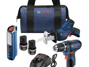 This Bosch combo kit comes with three tools for $139 today only