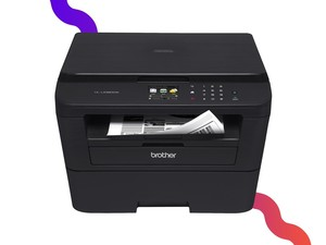 This Brother monochrome laser printer has copying, scanning, and duplex printing