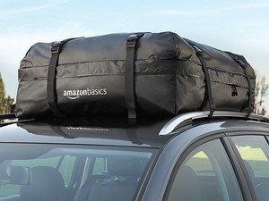 This $38 AmazonBasics rooftop cargo bag attaches easily and protects all your stuff