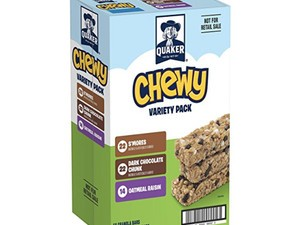 Stock up on granola bars with this 58-pack for under $10