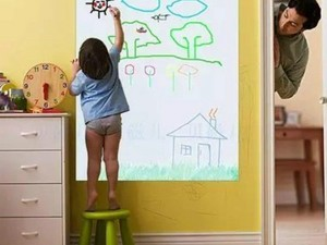 Shield your walls from kids with markers thanks to this Coavas Dry Erase Adhesive Whiteboard for just $5