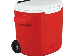 This $12 Coleman wheeled cooler can hold 22 cans