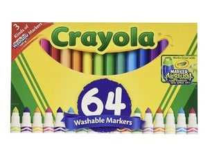 Grab 64 washable markers from Crayola for just $7