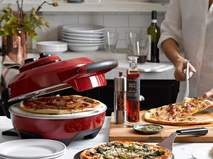 Bake an evenly-cooked pizza every time with the $100 Breville Crispy Crust Pizza Maker