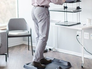 Work on your feet without the fatigue by getting over 20% off this CubeFit TerraFit Standing Desk Mat
