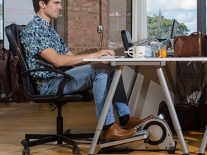 Work out while you work using the $249 Cubii Pro Bluetooth Under Desk Elliptical