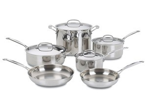 Treat yourself and your kitchen to a Cuisinart 10-piece Cookware Set for $80
