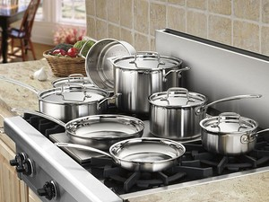 This 12-piece Cuisinart Multiclad Pro Cookware Set can be yours for $188