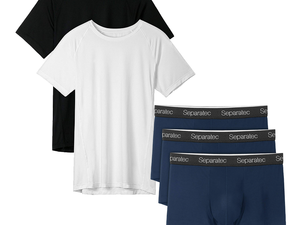 Get comfy with discounted David Archy and Separatec sleepwear, boxer briefs, and more