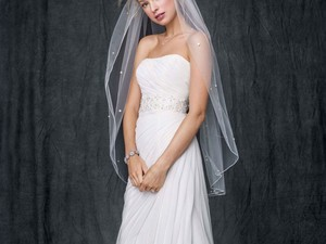 Save on your big day with David's Bridal sample wedding dresses for as low as $99 shipped