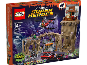 Build a batmobile and batcopter with this $170 Lego Batcave set based on the 1960s show