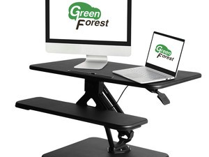 The $152 GreenForest desk converter switches between sitting and standing in seconds