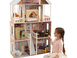 Get the KidKraft Savannah Dollhouse with Furniture for just $50