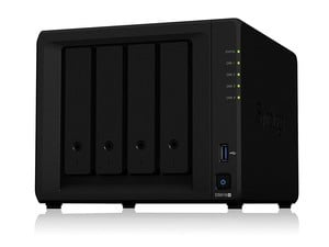 The Synology DS918+ 4-bay network-attached storage is down to $530 right now