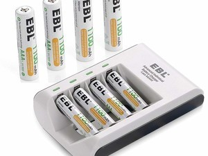 Power your devices with discounted EBL rechargeable batteries