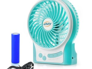This handy Efluky USB rechargeable portable fan is only $9